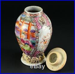 1735-1796 QIANLONG Qing Chinese Fine Porcelain Tea Caddy Famille Rose 5.6