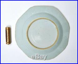 18C Qianlong Chinese Export Famille Rose Porcelain Dish Plate Mandarin Figure