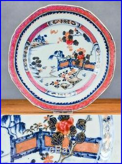 18C Qianlong Chinese Porcelain Plate'Famille Rose' Lobbed No Hairlines