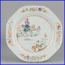 18C Qianlong Chinese porcelain famille rose landscape plate
