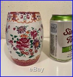 18thc Chinese Export Famille Rose Porcelain Barrel Mug Qianlong (without handle)