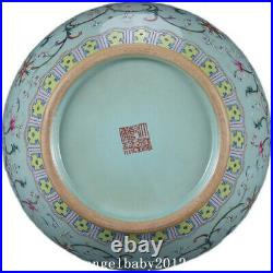 19.7 Qing dynasty qianlong mark Porcelain famille rose Lotus double ear Vase