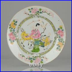 19th C French Samson porcelain plate Famille Rose Porcelain Qianlong Chinese
