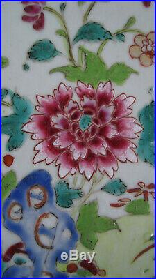 1st Beautiful Chinese Qianlong porcelain Famille Rose plate, twin peacocks 1775