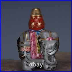 2.3 Old porcelain qing dynasty qianlong mark famille rose elephant Snuff Bottle