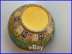 2 Antique Chinese Vases Qing Qianlong Double Gourd Famille Jaune 14 Handpaint