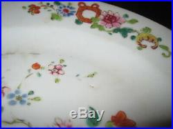 2 Qianlong 18th Century Plates 8-7/8 Famille Rose Chinese Export Porcelain