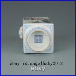 5 Qing Qianlong mark Antique Porcelain famille rose flowers and birds Vase