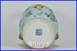 7.1 Old Antique Porcelain qing dynasty qianlong famille rose peony flower Vase