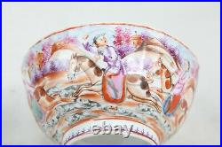 A Beautiful Chinese Qing Qianlong Famille Rose Bowl Hunting scene