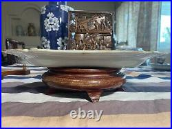A Fine Antique Chinese Famille Rose Porcelain Platter Plate Qianlong Period