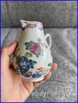A Lovely 18thC Chinese Yongzheng/Qianlong Period Famille Rose Milk Jug
