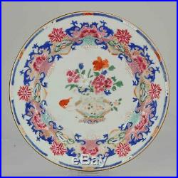 Antique Chinese 18C Qianlong Unusual Famille Rose Plate Richly decorated