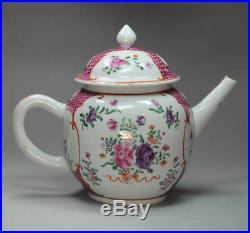 Antique Chinese Famille Rose Teapot and Cover, Qianlong 1735-1795