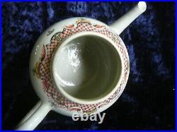 Antique Chinese Qianlong 18th Century Famille Rose Export Porcelain Tea Pot