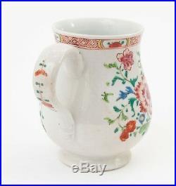 Antique Chinese Qianlong Porcelain Famille Rose Large Mug / Tankard