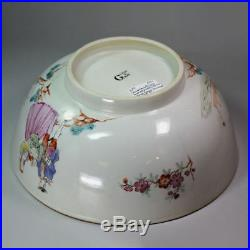 Antique Chinese famille-rose'Sailors Farewell and Return' punch bowl, Qianlong
