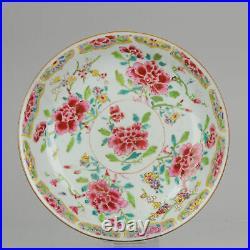Antique Plate Fencai Porcelain Famille Rose- China Qianlong 1