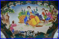 Antique Vintage Hand-painted Chinese Famille Rose Porcelain Qianlong Mark Plate
