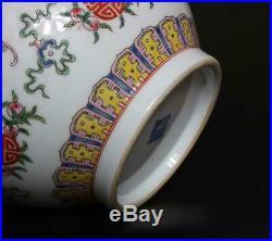 Antiuqe Old Chinese Famille Rose Porcelain Vase Qianlong Marked