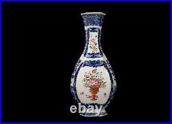 China 18. Century Qianlong One Chinese Export Famille Rose Porcelain Vase
