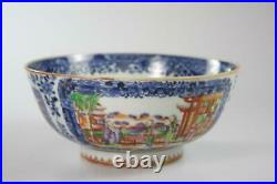 Chinese Antique Qian Long Period Export Ware Famille Rose Porcelain Bowl