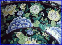 Chinese Bowl Famille Noire Ø 39,5 cm Qianlong (1735-1796) / 1930
