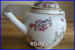 Chinese Famille Rose Armorial Teapot Qianlong Arms Viscount Southwell Circ 1776