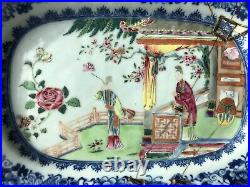 Chinese Qianlong Period Famille Rose Western Chamber Pattern Meat Plate 01 AF