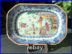 Chinese Qianlong Period Famille Rose Western Chamber Pattern Meat Plate 02