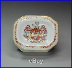 Chinese famille rose armorial salt, Qianlong (1736-95)