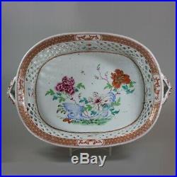 Chinese famille rose basket, Qianlong (1736-95)