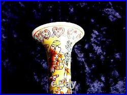Exceptional Chinese Eggshell Porcelain Famille Rose Dragon Vase, Marked Qianlong