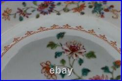 Famille rose'double peacock' soup dish Qianlong 1750