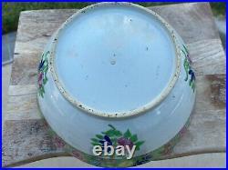Hugh Antique Chinese Export Famille Rose Porcelain Bowl18 Century Qianlong