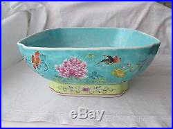 Large 19th Century Chinese Famille Rose Bowl. Qianlong Character Marks