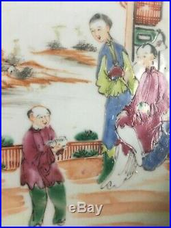 Nice Chinese Famille rose porcelain plate, figurings, Qianlong period, 18th ct
