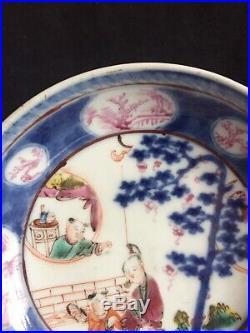 Qianlong famille Rose Dish with beautiful Lady