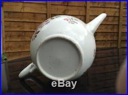 Rare Antique Qianlong Chinese Porcelain Teapot 18th Century Famille Rose