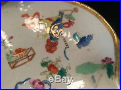 Rare Chinese Famille Rose Porcelain Tray, 18th/19th Century, Qianlong or Jiaqing