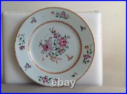 Superb Antique Chinese Famille Rose Qianlong Plate 18th Century Rare