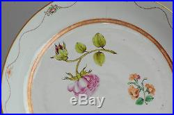 Top Quality! Qianlong Period LArge Famille Rose Plate Chinese Qing Antique