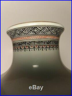 Very Fine Antique Chinese Famille Rose Eggshell Vase 11 Tall Porcelain Qianlong