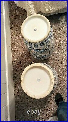 Vintage Chinese Famille Verte Vases 76 cm Wedding Vase QIANLONG mark 1 repaired